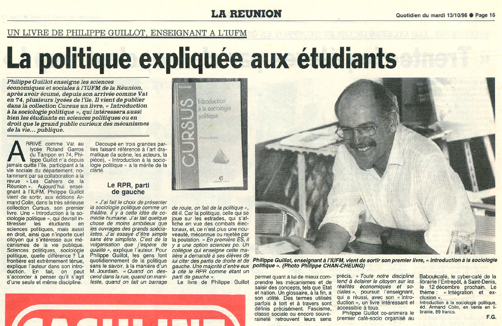 Philippe guillot livres for Chambre commerciale 13 octobre 1998